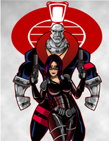 Destro and Barroness by kudoze