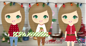 Ropa Mini Doll Navidad by JosEditionss