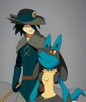 Aaron and Lucario by FezVrasta