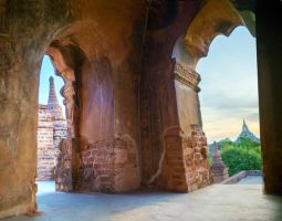 Bagan temple interior stock by little-spacey