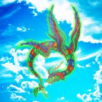 Quetzalcoatl in the Clouds by excalligrapher