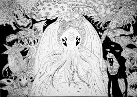 HP Lovecraft Monsters by Patricin