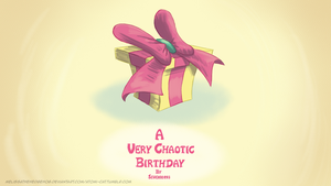 Chaotic Birthday Title by MelissaTheHedgehog