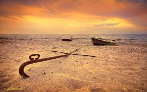 anchored to the sand by hotonpictures