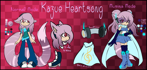 Kazue Heartsong - Reference Sheet + Bio by Libra-Dragoness