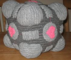 Plush Companion Cube - 9' size by Craftigurumi