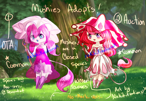 Common Mushies: 1# Adopts [OPEN} Closed species! by XxKikiKreationxX
