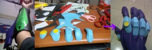 EVA-01 glove project by V-male