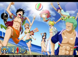 One Piece Beach Time by DrLinuX