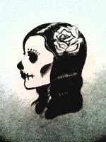 My Sugar Skull Girl by PeaceKoi