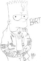 Bart Simpson BAD by victorajayi1999