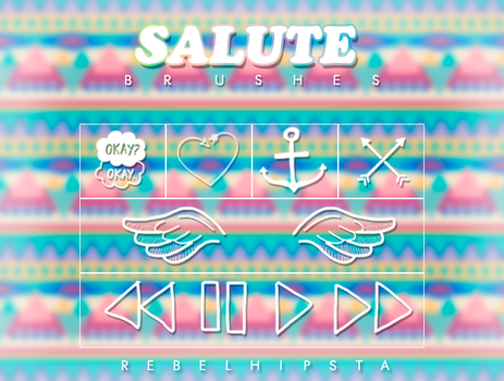 Salute Brushes by silly-luv