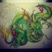 Green dragon by bishop808