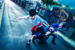 K  Project - FIGHT ME      by  K Project Blue King Cosplay