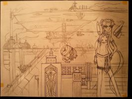 Avalon air harbor Working sketch by Lantice