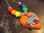 Rainbow Carousel Pendant by the-only-halo