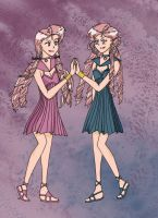 Sailor Lethe and Mnemosyne by Centris87