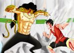 one piece: luffy vs lucci by xKABOSx