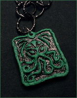 Cthulhu Cultist Necklace by CookingMaru