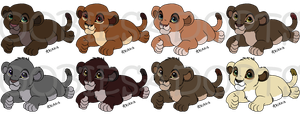 (CLOSED) Free Lion Cub Adopts by Oobiesadopts