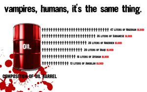 The blood is oil. by Cobayatchi