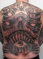 custom monster backpiece by graynd
