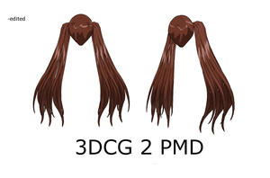 MMD : Long Flowy Pigtails by Ayodan