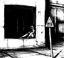 Waiting for the Bus by SilentIvo