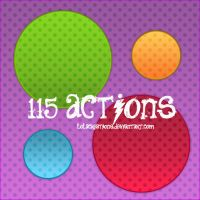 115 ACTIONS by lolacreations