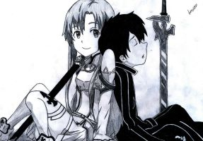 Asuna and Kirito by LuisNF