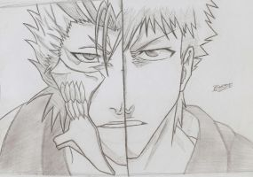 Bleach : Grimmjow vs. Ichigo by SnowTheGoon