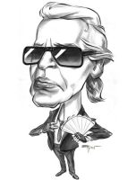 A Caricature of Karl Lagerfeld by alex-ek