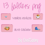13 Pink Folders PNG by CoolSabry