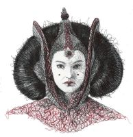 Padme red Throne by Aeriz85