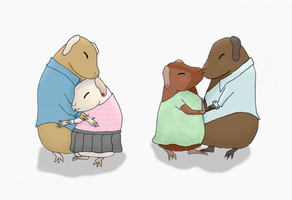 Guinea Pig Couples by LunarIceDragon