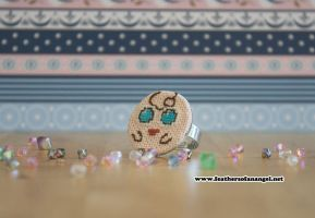 cute jigglypuff cross stitch ring by SongThread