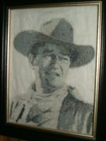 John Wayne Cross Stitch by sgoheen06