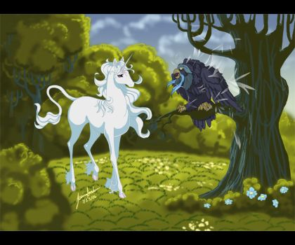 The Last Unicorn Fan Art by sighthoundlady