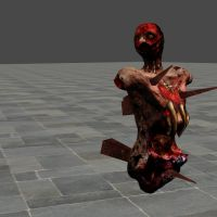 SILENT HILL DOWNPOUR NAILED BODY ORIGINAL BONES by Oo-FiL-oO