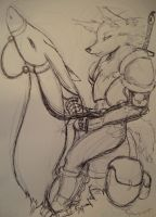 Wolf Calvary by Jreeds