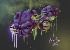 Weezing by andychhi