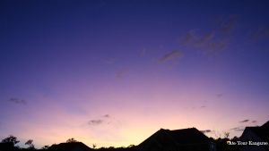 Blue and Peach Sunset Two by Ate-Your-Kangaroo