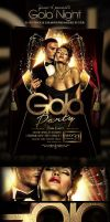Gala Night Party PSD Flyer Template by yAniv-k