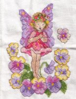 Pansy Fairy Cross Stitch by astraldreamer