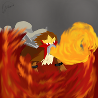 Entei: Master of Fire by DragonCuali