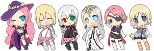 Chibi Rune Factory Girls by lulzpipsqueak