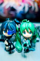 Black Rock Shooter X Hatsune Miku by KuroDot