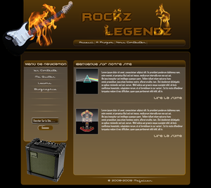 Rockz Legendz Web Template