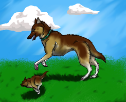 German Shepherds by AshesAshesFalling