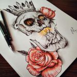 Skull Roses by EdwardMiller